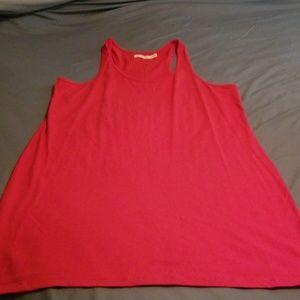 Red T shirt dress